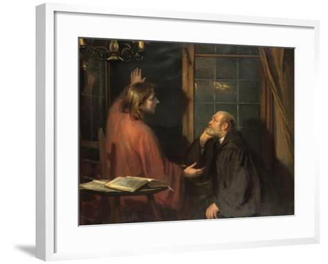 Nicodemus and Christ-Fritz von Uhde-Framed Art Print