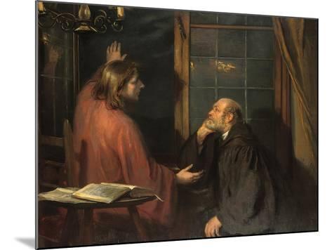 Nicodemus and Christ-Fritz von Uhde-Mounted Giclee Print