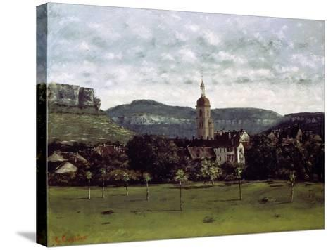 View of the Bell Tower of Ornans, C. 1858-Gustave Courbet-Stretched Canvas Print