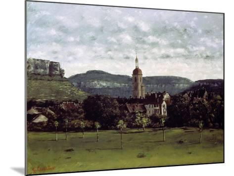 View of the Bell Tower of Ornans, C. 1858-Gustave Courbet-Mounted Giclee Print