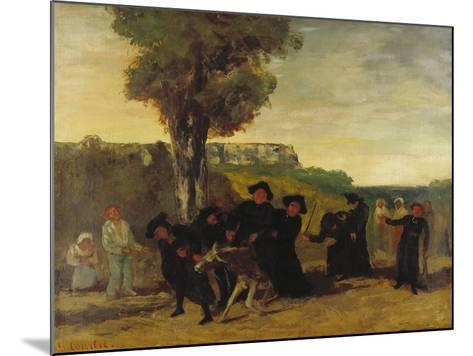Home Coming Form the Conference (Le Retour De La Conférence), 1863-Gustave Courbet-Mounted Giclee Print