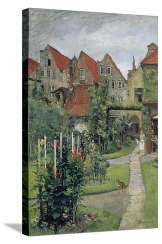 Urban Garden in Luebeck (Johannisstrasse 64), 1891-Hermann Linde-Stretched Canvas Print