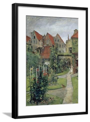 Urban Garden in Luebeck (Johannisstrasse 64), 1891-Hermann Linde-Framed Art Print