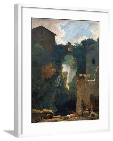 The Falls of Tivoli, 1760-1762-Jean-Honor? Fragonard-Framed Art Print