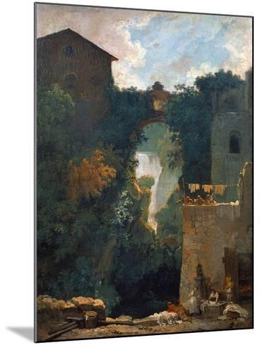 The Falls of Tivoli, 1760-1762-Jean-Honor? Fragonard-Mounted Giclee Print