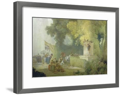 The Festival in the Park of St. Cloud, 1778-80-Jean-Honor? Fragonard-Framed Art Print