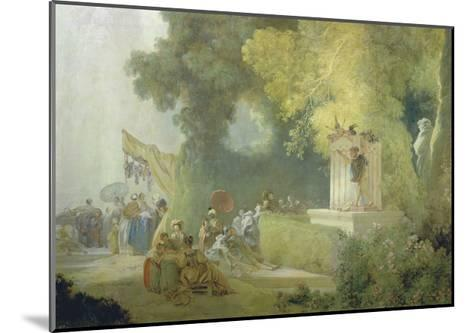 The Festival in the Park of St. Cloud, 1778-80-Jean-Honor? Fragonard-Mounted Giclee Print