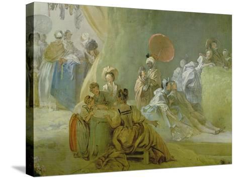 The Festival in the Park of St. Cloud, 1778-80-Jean-Honor? Fragonard-Stretched Canvas Print