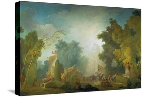 The Festival in the Park of St, Cloud, 1778-80-Jean-Honor? Fragonard-Stretched Canvas Print
