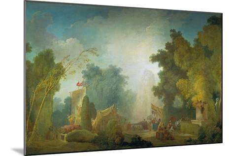 The Festival in the Park of St, Cloud, 1778-80-Jean-Honor? Fragonard-Mounted Giclee Print