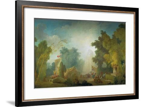 The Festival in the Park of St, Cloud, 1778-80-Jean-Honor? Fragonard-Framed Art Print