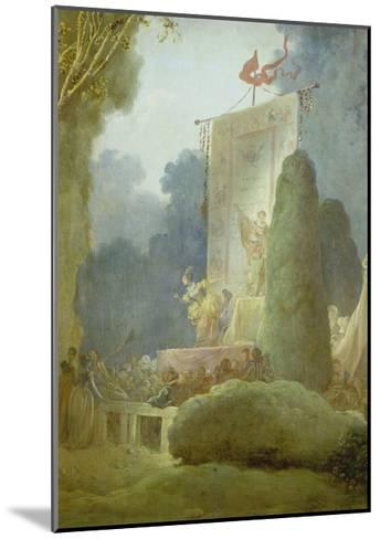 The Festival in the Park of St. Cloud. Detail: a Balladeer, 1778-80-Jean-Honor? Fragonard-Mounted Giclee Print