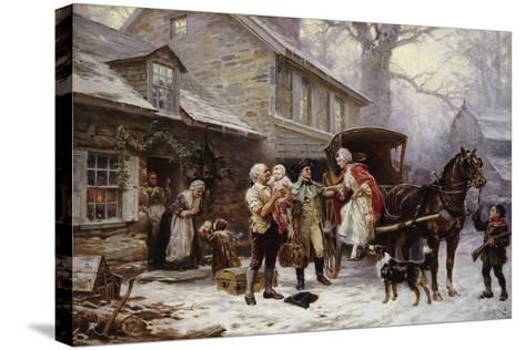 Home for Christmas-Jean Léon Gérôme Ferris-Stretched Canvas Print