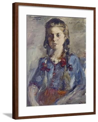 Wilhelmine with Hair in Braids, 1922-Lovis Corinth-Framed Art Print