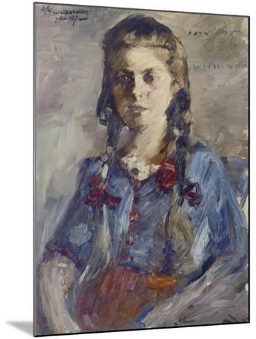 Wilhelmine with Hair in Braids, 1922-Lovis Corinth-Mounted Giclee Print
