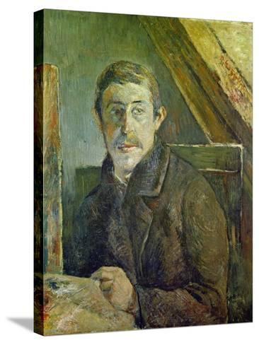 Self Portrait at His Easel, 1885-Paul Gauguin-Stretched Canvas Print
