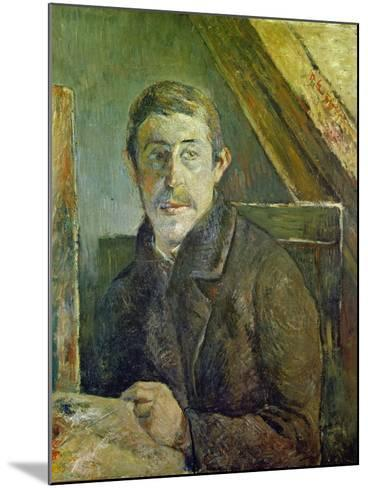Self Portrait at His Easel, 1885-Paul Gauguin-Mounted Giclee Print