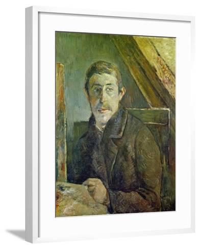 Self Portrait at His Easel, 1885-Paul Gauguin-Framed Art Print