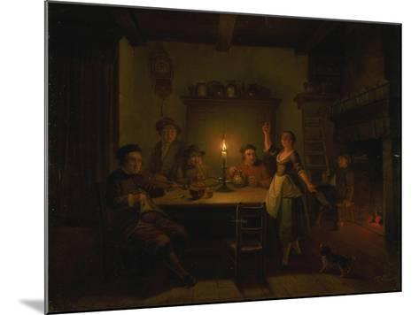Inn Interior by Candle Light-Pieter Huys-Mounted Giclee Print