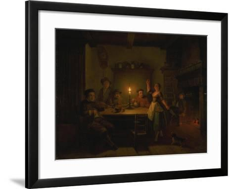 Inn Interior by Candle Light-Pieter Huys-Framed Art Print