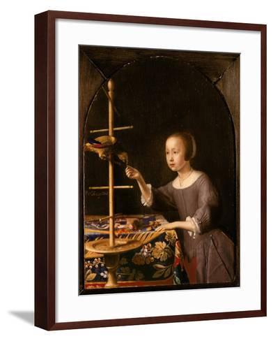 Girl Feeding a Parrot-Pieter Van Steenwyck-Framed Art Print