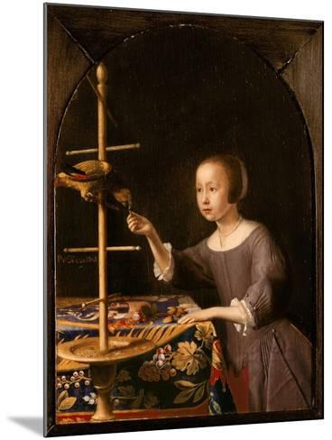 Girl Feeding a Parrot-Pieter Van Steenwyck-Mounted Giclee Print