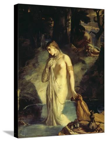 Susanna Bathing, 1839-Theodore Chasseriau-Stretched Canvas Print