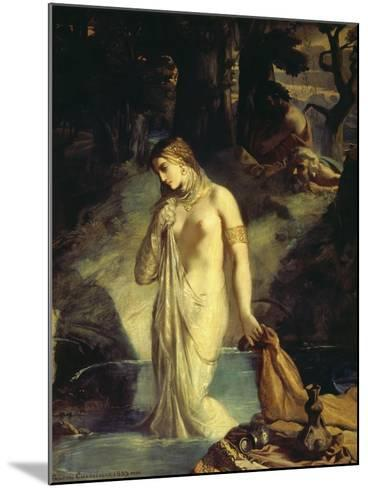 Susanna Bathing, 1839-Theodore Chasseriau-Mounted Giclee Print