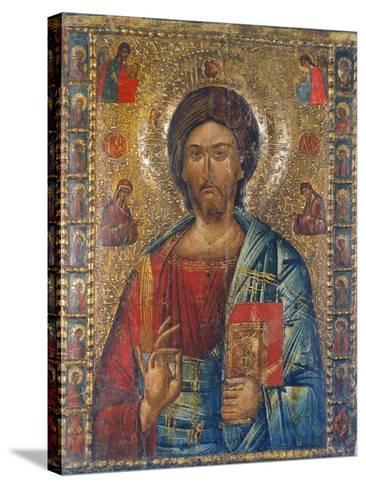 Christus Pantokrator-Moldau-Schule Ikone-Stretched Canvas Print