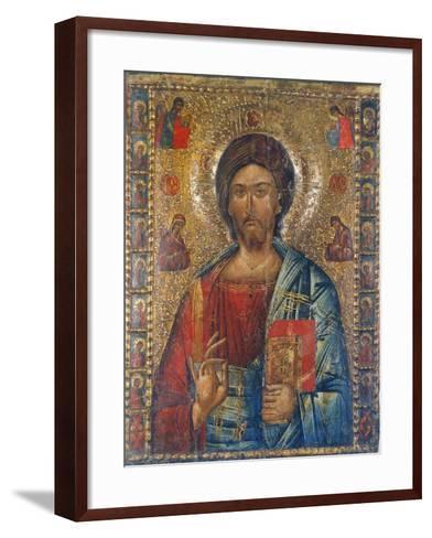 Christus Pantokrator-Moldau-Schule Ikone-Framed Art Print