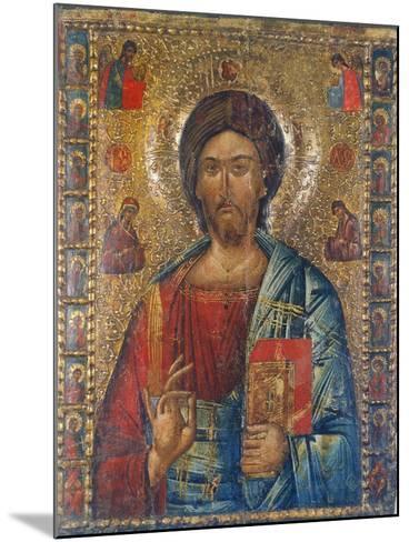 Christus Pantokrator-Moldau-Schule Ikone-Mounted Giclee Print