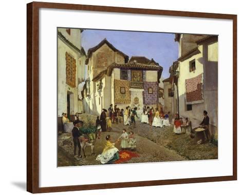 A Spanish Wedding Ceremony, 1873-Placido Frances y Pascual-Framed Art Print