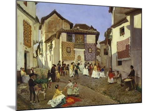 A Spanish Wedding Ceremony, 1873-Placido Frances y Pascual-Mounted Giclee Print