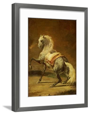 Dappled Grey Horse-Th?odore G?ricault-Framed Art Print