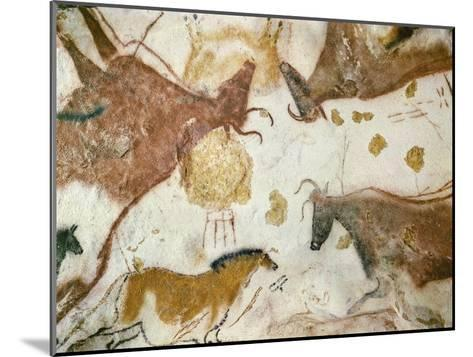 Cave of Lascaux, Ceiling of the Diverticulum: a Horse and Three Cows, C. 17,000 BC--Mounted Giclee Print