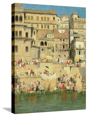 Benares, Blue Is the Sky-Mose Bianchi-Stretched Canvas Print