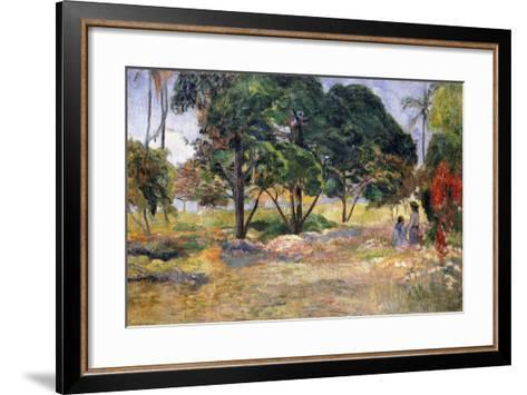 Landscape with Three Trees (Paysage Aux Trois Arbres), 1892-Paul Gauguin-Framed Art Print