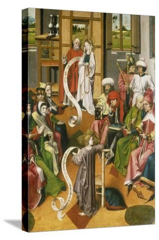 The Twelve Year-Old Jesus in the Temple, Westphalia, C. 1450--Stretched Canvas Print