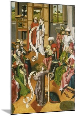 The Twelve Year-Old Jesus in the Temple, Westphalia, C. 1450--Mounted Giclee Print