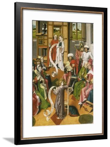 The Twelve Year-Old Jesus in the Temple, Westphalia, C. 1450--Framed Art Print