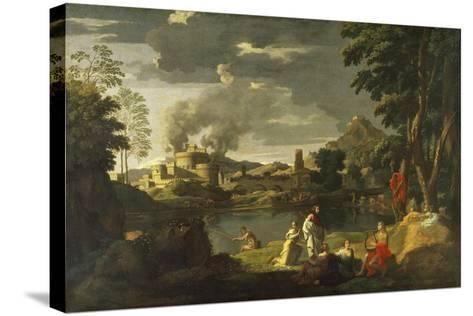 Orpheus and Eurydice-Nicolas Poussin-Stretched Canvas Print
