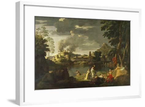 Orpheus and Eurydice-Nicolas Poussin-Framed Art Print