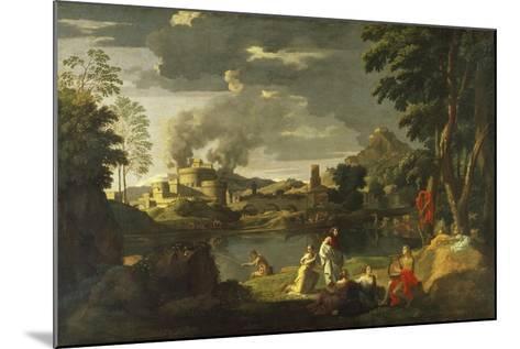 Orpheus and Eurydice-Nicolas Poussin-Mounted Giclee Print