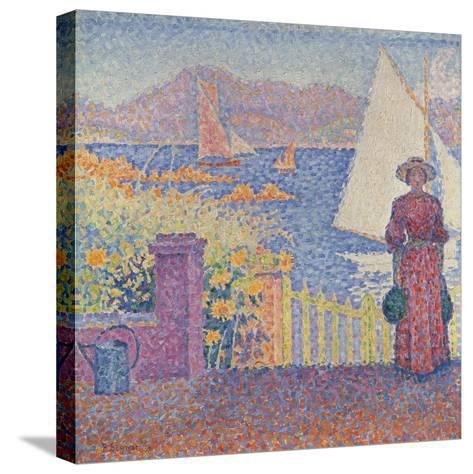 At St. Tropez-Paul Signac-Stretched Canvas Print