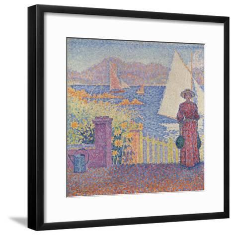 At St. Tropez-Paul Signac-Framed Art Print