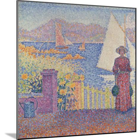 At St. Tropez-Paul Signac-Mounted Giclee Print