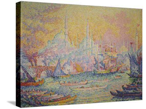 View of Istanbul, 1907-Paul Signac-Stretched Canvas Print