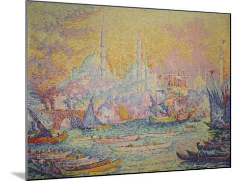 View of Istanbul, 1907-Paul Signac-Mounted Giclee Print