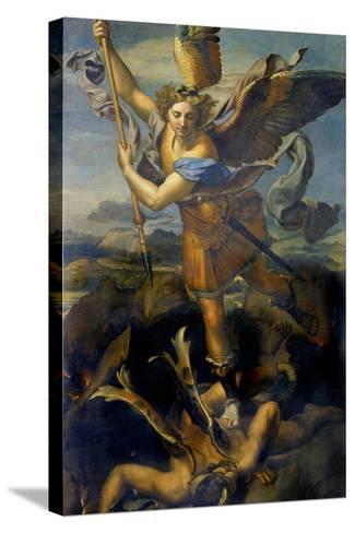 Der Hl, Michael Besiegt Den Teufel, 1518-Raffael-Stretched Canvas Print