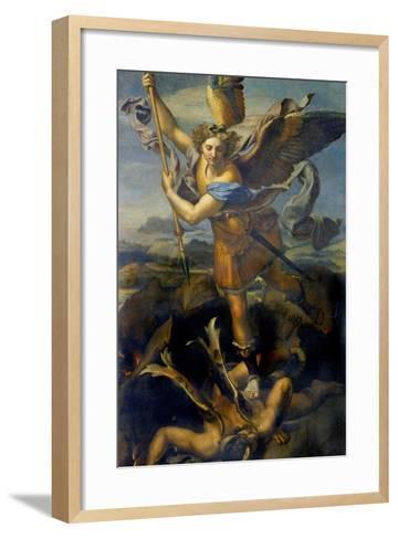 Der Hl, Michael Besiegt Den Teufel, 1518-Raffael-Framed Art Print